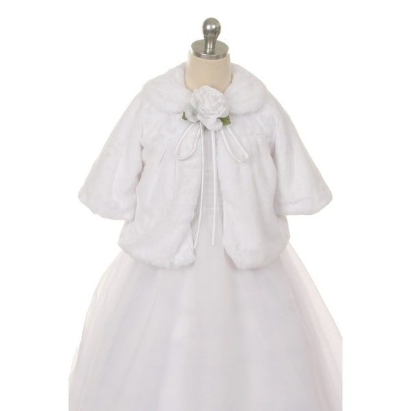 e0b86114d Shop Kids Dream White Faux Fur Special Occasion Half Coat Girls 2T - Free  Shipping On Orders Over $45 - Overstock - 18164345