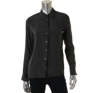 Equipment Womens Shiloh Button-Down Top Silk Striped - xs