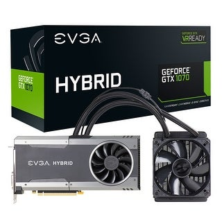 Evga Geforce Gtx 1070 Ftw Hybrid Gaming, 8Gb Gddr5, Rgb Led, All-In-One Watercooling With 10Cm Fan, 10 Power Phases, Dou