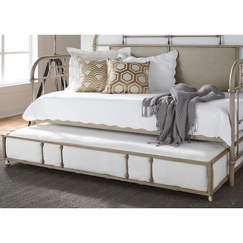 Carbon Loft Cauthen Vintage Series Vintage Cream Twin Metal Trundle