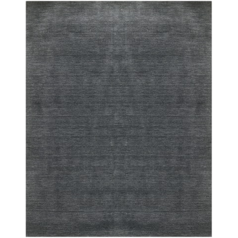 Granada Transitional Dark Gray Handwoven Area Rug - 4'x6'