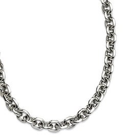 Chisel Stainless Steel Polished 24 Inch Necklace (9 mm) - 24 in