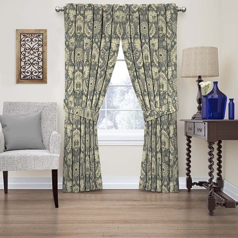 Waverly Clifton Hall Floral Single Curtain Panel