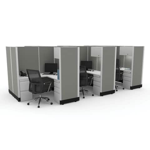 Modular Office Desk Furniture 67H 6pack Cluster Powered