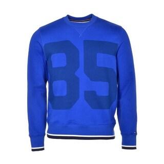 Tommy Hilfiger Terry Cloth 85 Crewneck Sweatshirt Medium M Surf The Web Blue