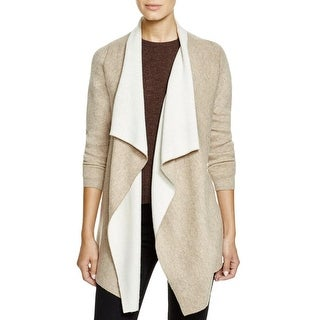 Sisters Womens Cardigan Sweater Drape Front Shawl Collar