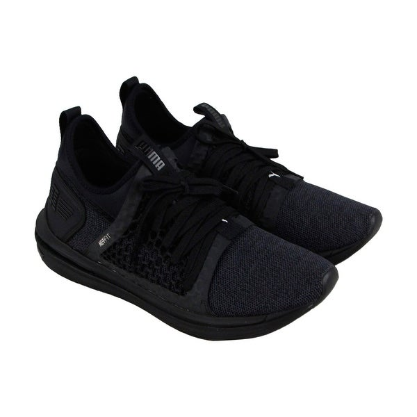 b2a65d77471 Puma Ignite Limitless Sr Netfit Mens Black Textile Athletic Training Shoes