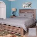 Metropolitan Stitch Duvet Cover Set Bedding Set 3 Pc Set Grey Gray Queen Size - Thumbnail 1
