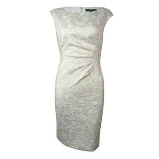 Lauren Ralph Lauren Women's Paisley Jacquard Sheath Dress - 4P