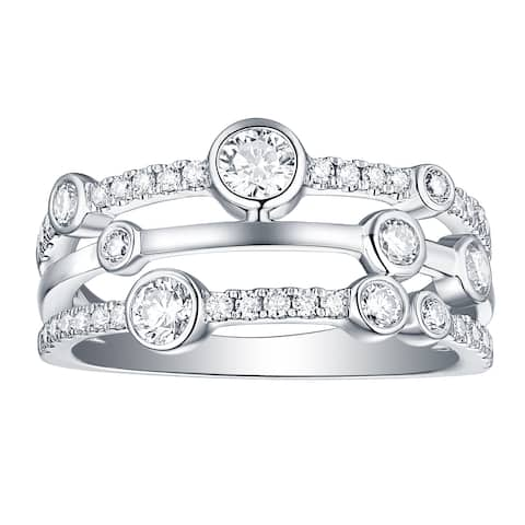 Smiling Rocks Bubbly Collection 0.77Ct G-H/VS1 Lab Grown Diamond Ring