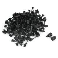 Unique Bargains 100 Pcs 2 Wires 1mm Width Nylon Flat Cord Clip Clamp Strain Relief Bushing