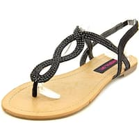 Material Girl Womens Selena Fabric Open Toe Casual Slingback Sandals