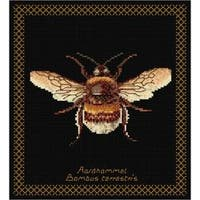 """8""""X8.25"""" 18 Count - Bumble Bee On Aida Counted Cross Stitch Kit"""