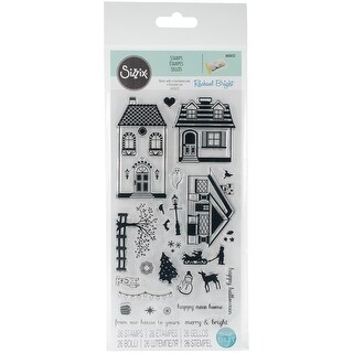 Sizzix Clear Stamps By Rachael Bright-Happy Home