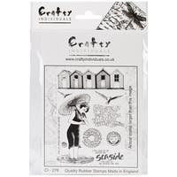 "Crafty Individuals Unmounted Rubber Stamp 4.75""X7"" Pkg-Beside The Sea"