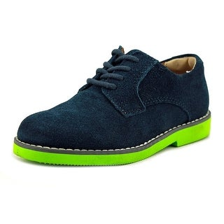 Florsheim Kearny Jr Toddler Round Toe Suede Blue Loafer