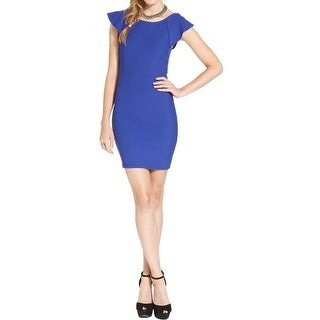 Trixxi Womens Juniors Cocktail Dress Open Back Ruffled - 3