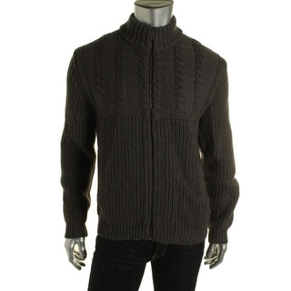 Private Label Mens Wool Knit Full Zip Sweater