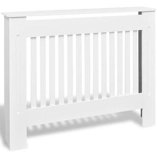 "vidaXL 2x Radiator Covers White MDF 44.1"" Heating Shelf Cabinet Accessory"