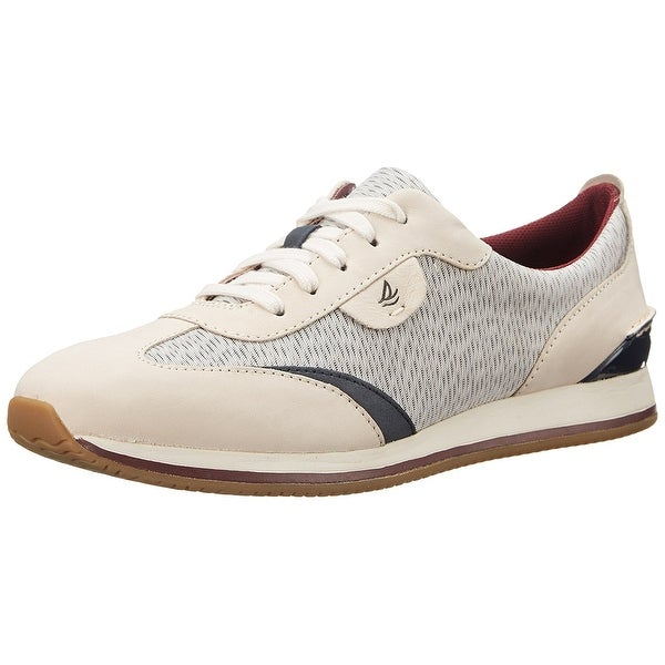 Sperry Womens Tidal Trainer Leather Low Top Lace Up Fashion Sneakers