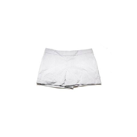 Maison Jules Grey Striped Maddie Seersucker Shorts 2