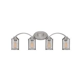 "Millennium Lighting 3274 Akron 4 Light 30"" Wide Vanity Light with Mesh Style Metal Shades"