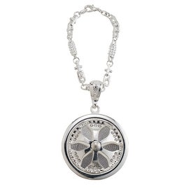 Pilot Automotive Silver Pendant Spinner Wheel Key Chain