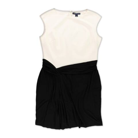American Living Womens Colorblocked Sheath Dress, black, 16