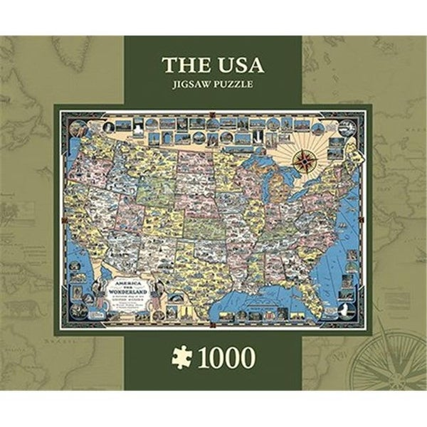 Shop USA Map Xplorer Maps Puzzle, 1000 Pieces - Free Shipping On ...
