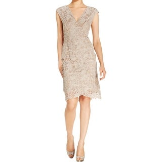 Jessica Howard Womens Casual Dress Lace Tiered