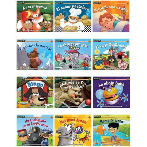 Nursery Rhyme Songs & Stories Spnsh Rising Readers Leveled Books - Multi
