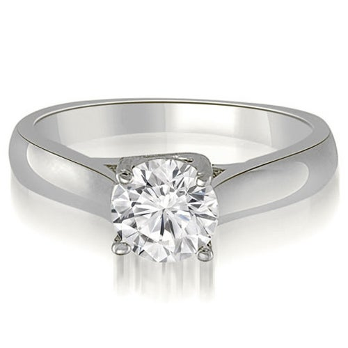 0.50 cttw. 14K White Gold Lucida Solitaire Round Cut Diamond Engagement Ring