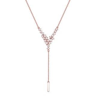 Brand New 0.65 Carat Round Brilliant Cut Natural G-H/SI1 Diamond Designer Necklace - White
