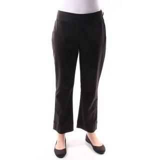 $70 INC New Womens 1150 Black Wear To Work Straight Leg Pants 4 B+B