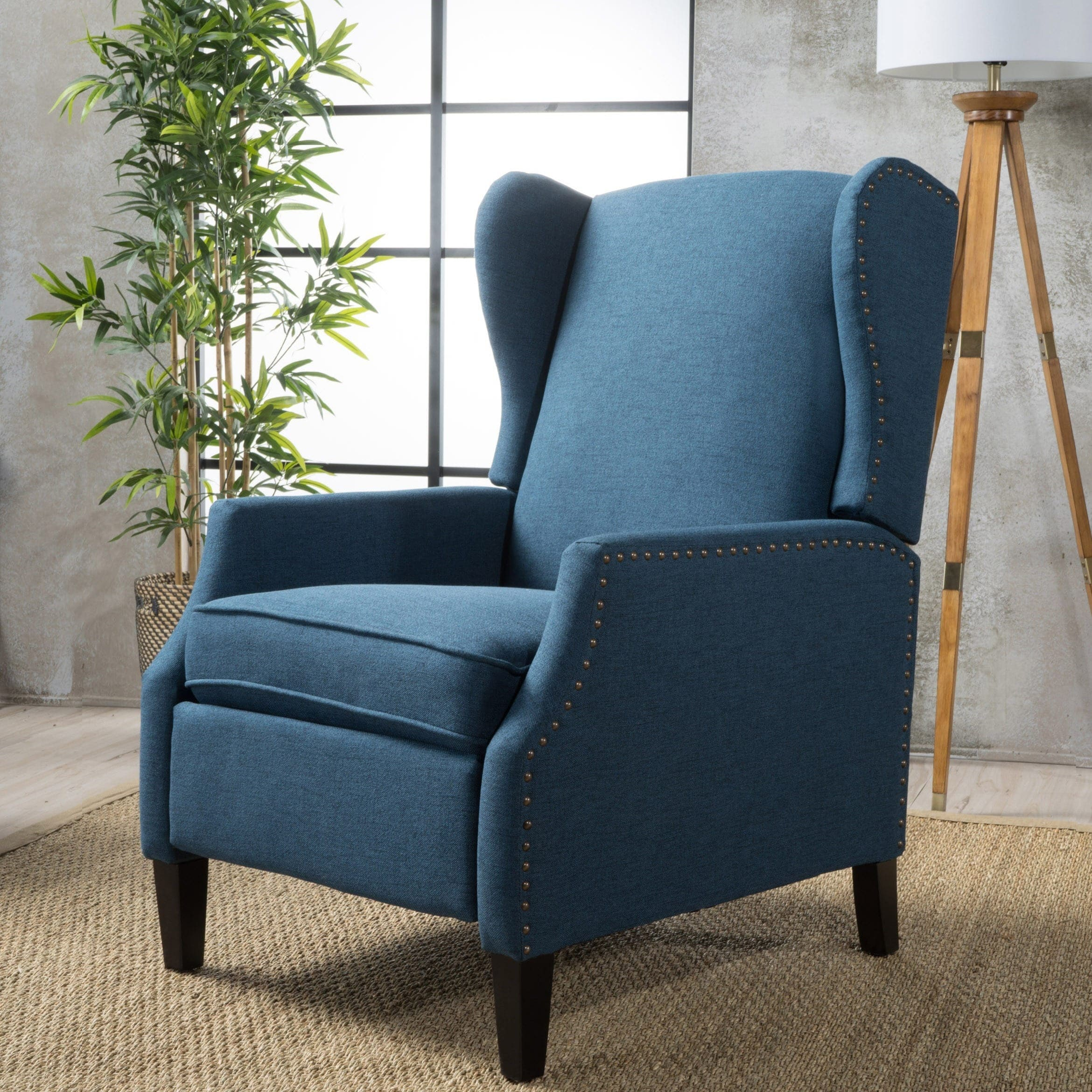 Wescott Wingback Fabric Recliner Club Chair By Christopher Knight Home On Sale Overstock 20603806