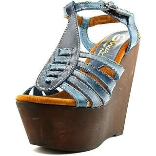 Sbicca Edmonds Women  Open Toe Leather  Wedge Sandal