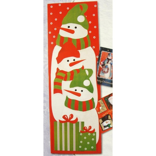 """Club Pack of 108 Snowman Christmas Card Wall Holders 36"""" - multi"""