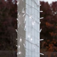 Wintergreen Lighting 71311 150 Bulb 6in x 15ft LED Decorative Holiday Net Light with White Wire - Cool White - N/A