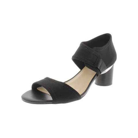 DKNY Womens Penny Heels Ankle Strap Cushioned
