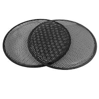 "Unique Bargains Black 12"" Round Metal Mesh Vehicle Speaker Sub Box Grill Cover 2 Pcs"