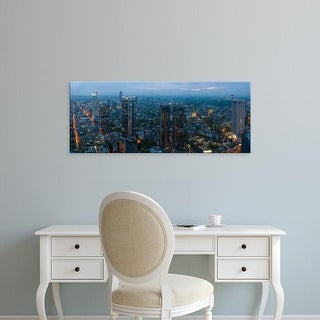 Easy Art Prints Panoramic Images's 'Aerial view of a city, Frankfurt, Hesse, Germany' Premium Canvas Art