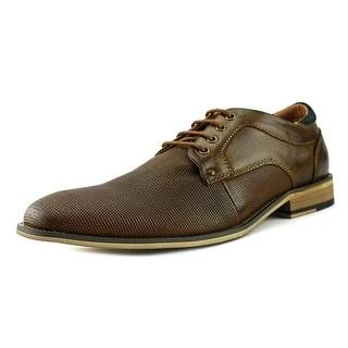 Steve Madden Lupo Men  Apron Toe Leather Brown Oxford
