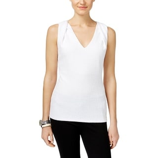 MICHAEL Michael Kors Womens Blouse Textured Sleeveless