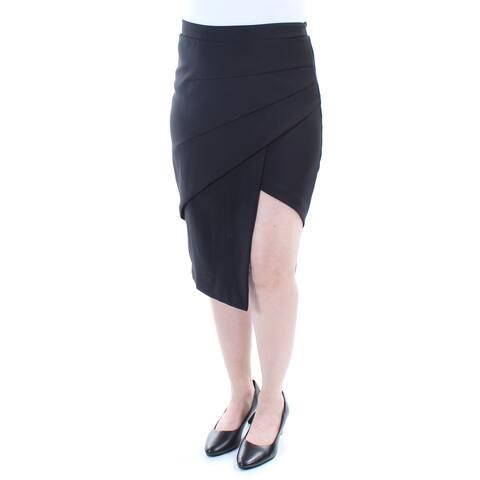 BAR III Womens Black Knee Length Pencil Evening Skirt Size: 2XS