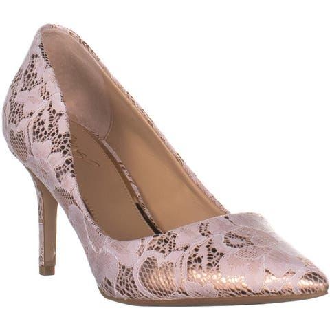 Jewel Badgley Mischka Jewel Zuri Slim Heel Pumps, Rose Gold - 8.5 US