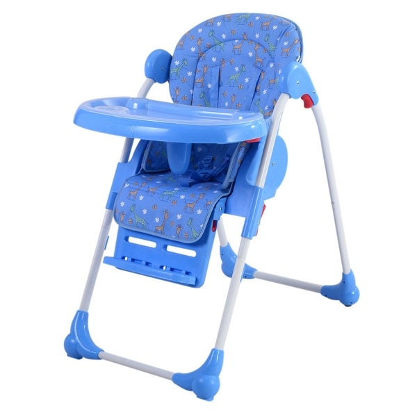 Incredible Adjustable Baby High Chair Infant Toddler Feeding Booster Seat Folding Blue Spiritservingveterans Wood Chair Design Ideas Spiritservingveteransorg