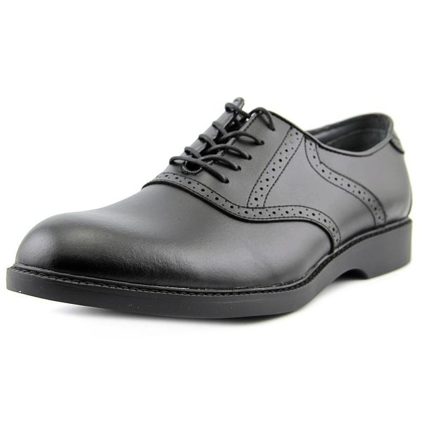 Bass Pomona Men Round Toe Leather Black Oxford