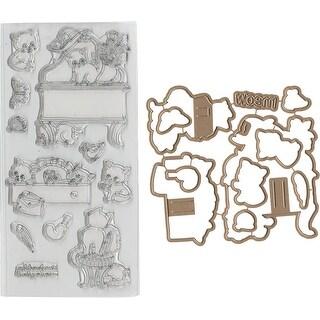 Kitten Vanity - Art Impressions PopCard Clear Stamp & Die Set