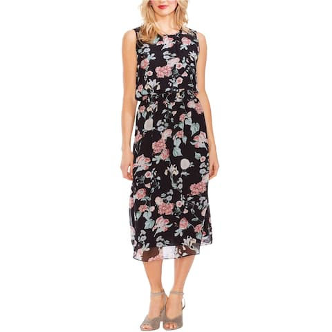 Vince Camuto Womens Floral Midi Dress