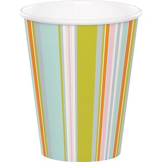 Club Pack of 96 Blue and Green Happi Jungle Themed Hot cold Cups 5.6